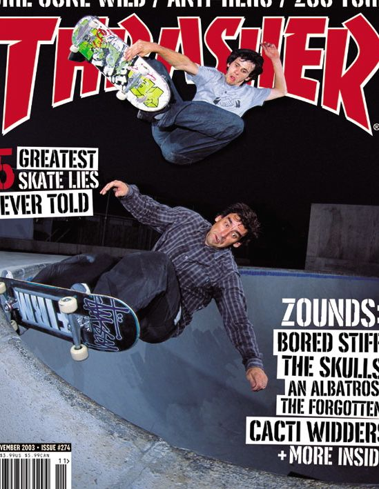 Thrasher Magazine with Rick McCrank photo Morf